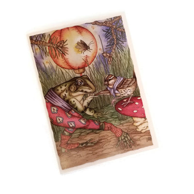 Leah Schell Blank Notecard - Frog & Sparrow
