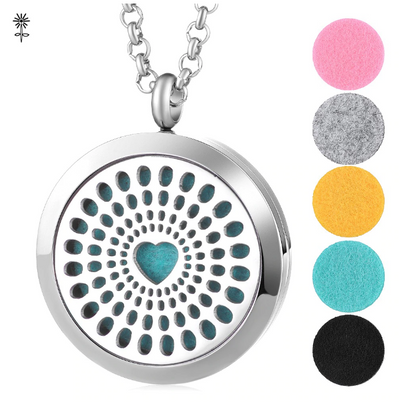 Heart Diffuser Necklace Gift Set