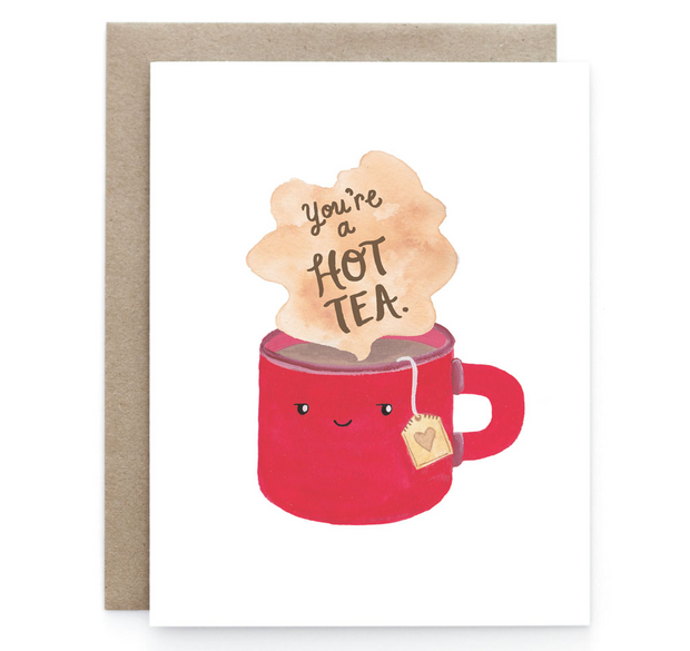 Hot Tea - Blank Notecard