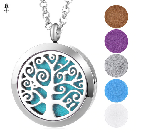 Swirly Tree Diffuser Necklace
