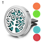 Clip On Car Diffuser - Swirly Tree Design