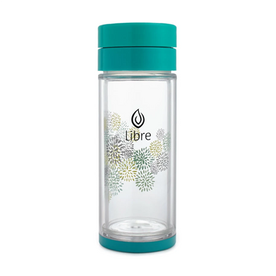 Glass Tea Infuser - 14 oz Teal