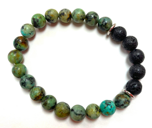 Diffuser Bracelet Gift Set - African Turquoise with Anti Stress