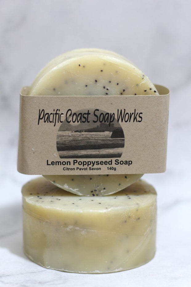 Lemon Poppyseed Soap - Pacific Coast Soap Works