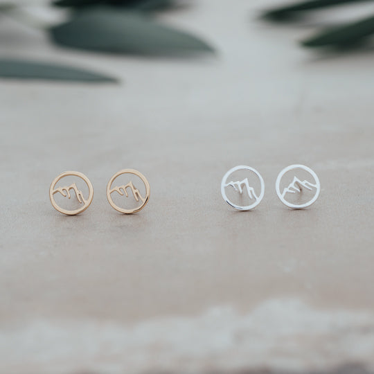 GLEE Snow Capped Mountain Studs