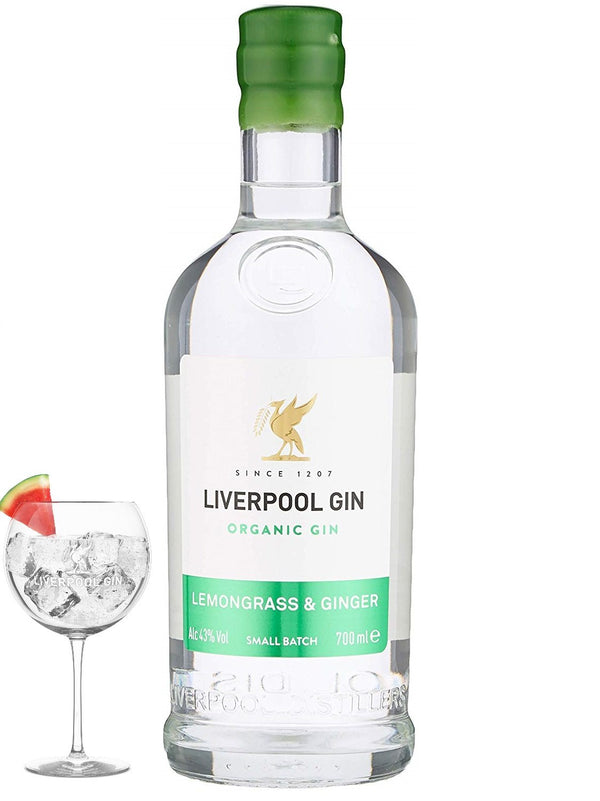 Liverpool Organic Lemongrass & Ginger Gin 43% 70cl - Fine Wine Store