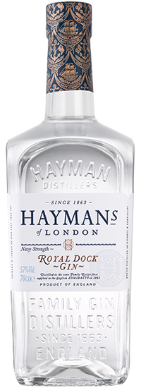 Hayman's Royal Dock Gin 57% 70cl - thedropstore.com