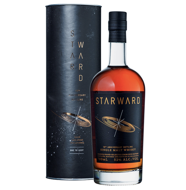 Starward 10th Anniversary Single Malt Whisky 52% 70cl - thedropstore.com
