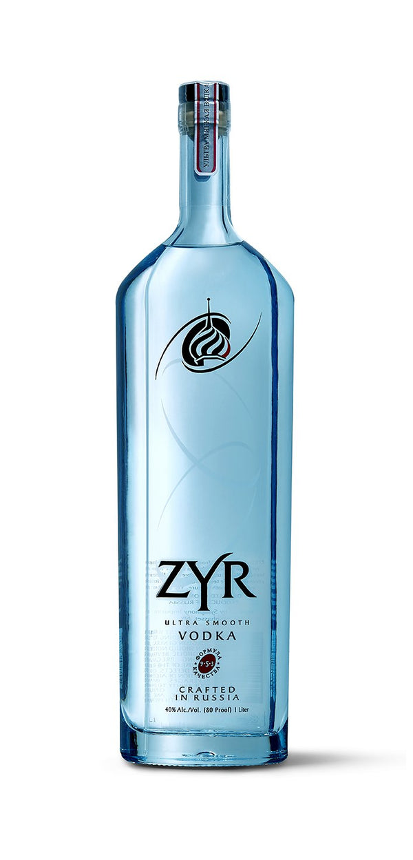 Zyr Russian Vodka 40% 1lt - Fine Wine Store