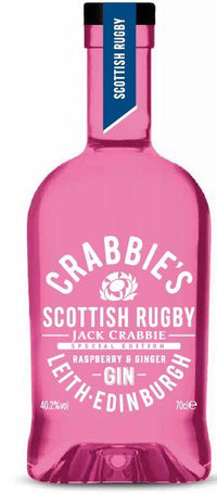 Crabbie's Scottish Rugby Raspberry & Ginger Pink Gin
