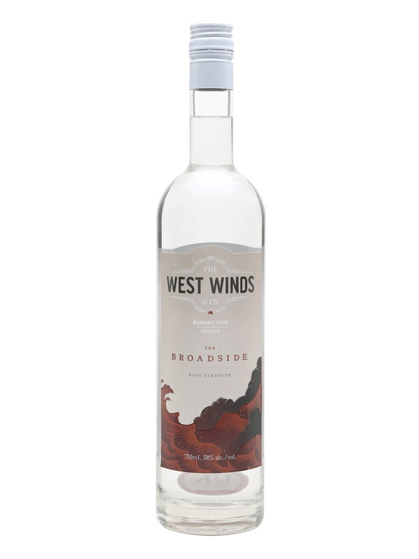 The West Winds Broadside Navy Strength Gin 58% 70cl - Fine Wine Store