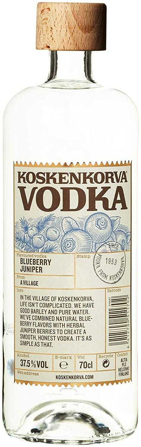 Koskenkorva Blueberry Juniper Vodka 37.5% 70cl - thedropstore.com