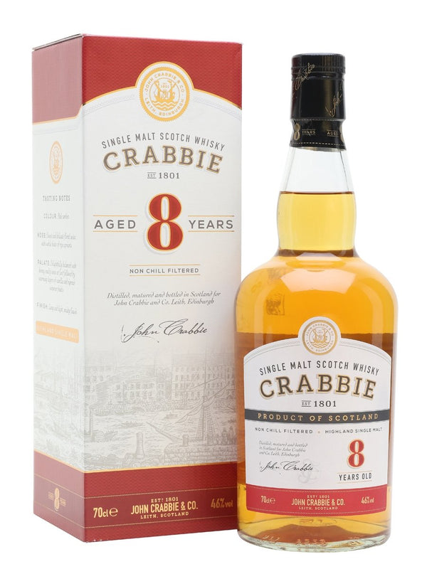 Crabbie 8yr old Whisky 46% 70cl - Fine Wine Store