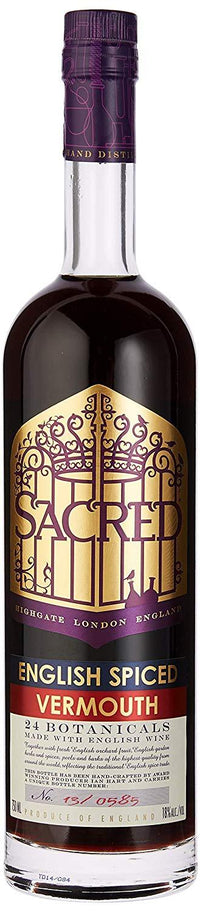 Sacred Spiced English Vermouth 18% 70cl - Fine Wine Store