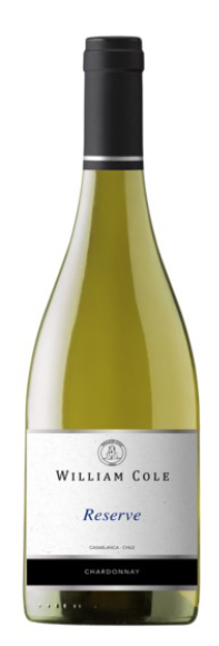 William Cole Reserve Chardonnay, Casablanca, Chile  2016 - Fine Wine Store