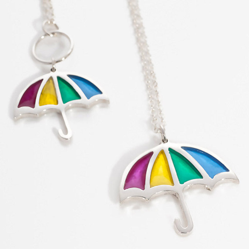 Rainbow Umbrella Pendant