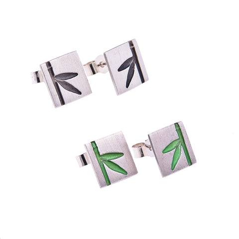 Square Bamboo Studs