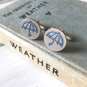 Round Umbrella Cufflinks