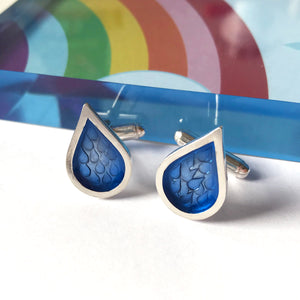 Blue Raindrop Cufflinks
