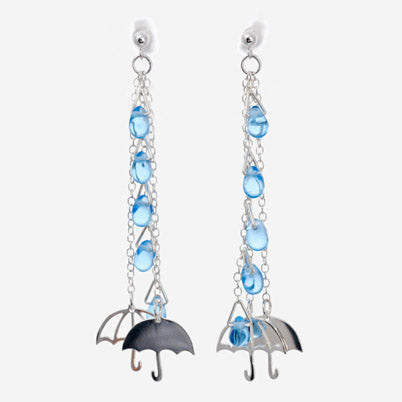 Umbrella in the Rain Earrings