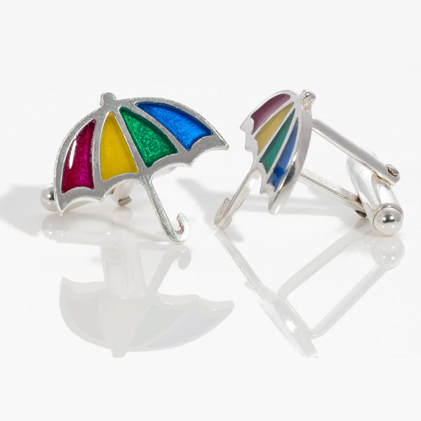 Rainbow Umbrella Cufflinks