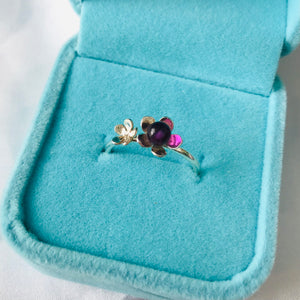 Cherry Blossom Gemstone Ring