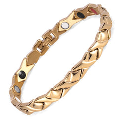 Magnetic Germanium Stainless Steel Power Energy Woman Bracelet