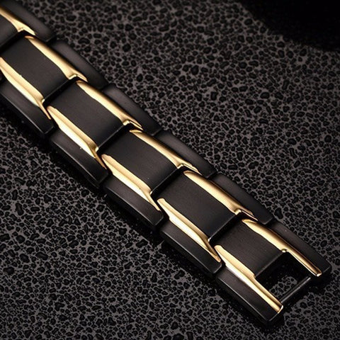 CoolSteel Titanium Magnetic Therapy Bracelet for Men