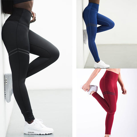 High Elastic Tights Slim Fitness Sport Leggings