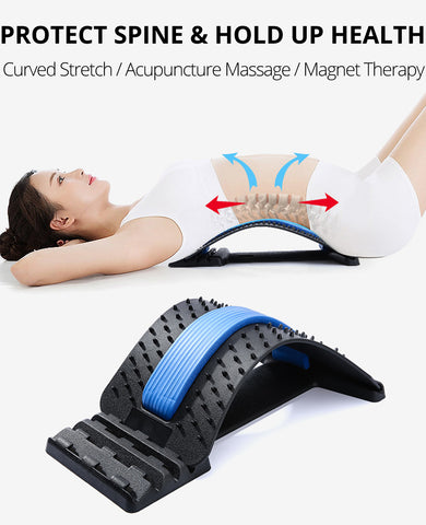 Back Massage Magic Stretcher Waist Acupuncture Body Lumbar
