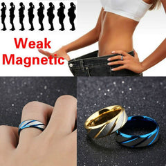 Magnetic Medical Acupressure Gallstone Weight Loss Ring