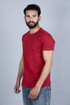 Solid colour round neck t-shirt