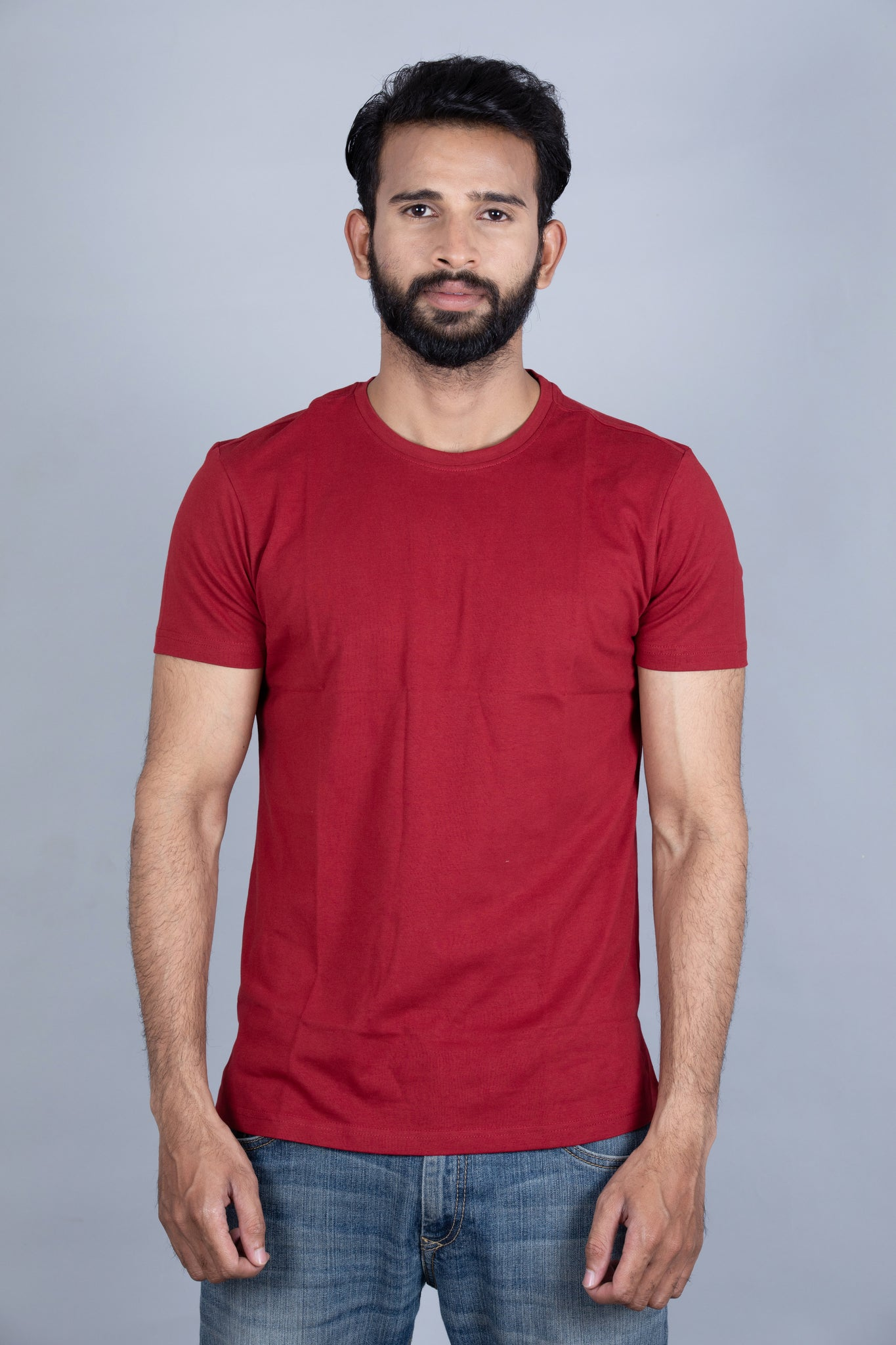 Mighty Maroon Crew Neck T-Shirt