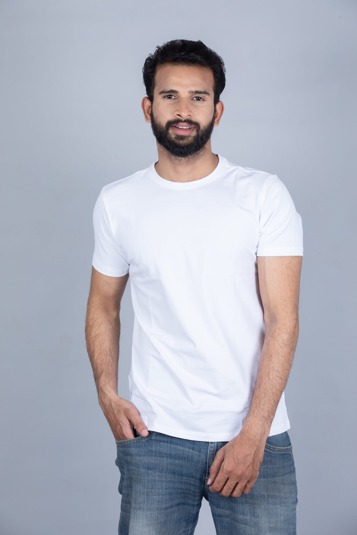 Milky White Crew Neck T-Shirt