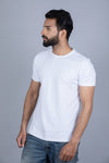 Without any logo white colour t-shirt