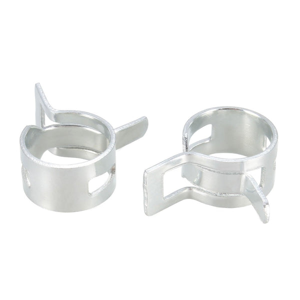 Briggs Stratton silver Hose Clamps (2) OEM 93807 93053