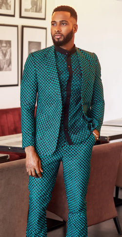 JAFARI  AFRICAN  PRINT SET (BLAZER AND PANT)