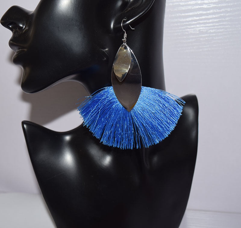 Tassel semi-circular Drop Earrings