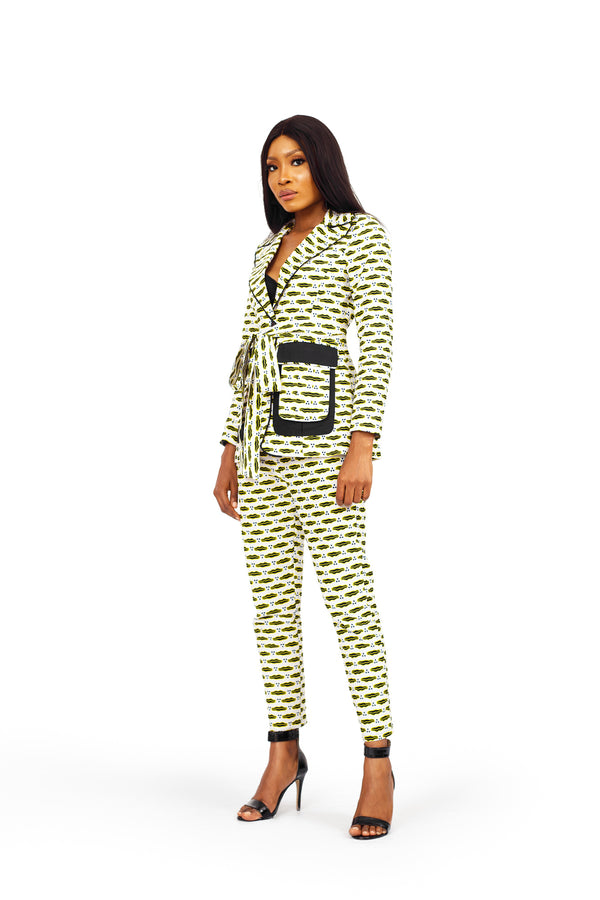 African Print Asha Jacket and Pant Set