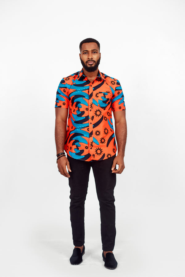 AFRICAN FARI SHORT SLEEVE SHIRT