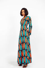 African Ankara Chipo Wrap Dress