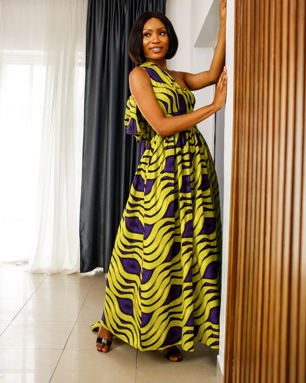 African Print Folami Infinity Dress