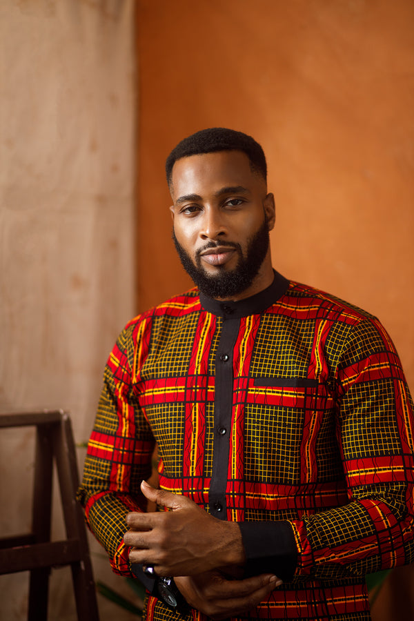 BARKE LONG SLEEVE AFRICAN PRINT SHIRT