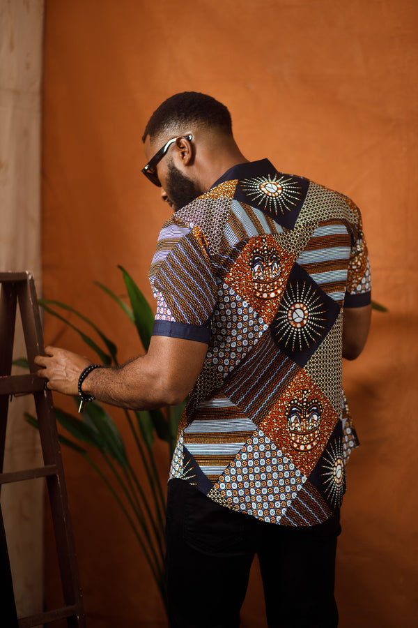 AFRICAN TEFO SHORT SLEEVE SHIRT