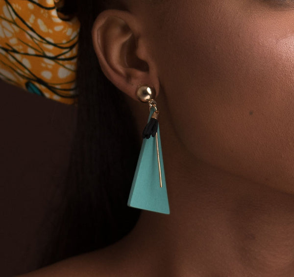 Triangle Shaped Drop Earrings
