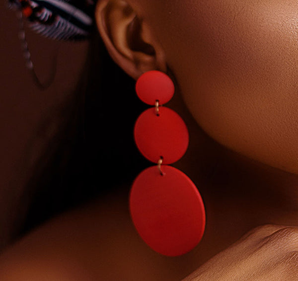 Tricircle Drop Earrings