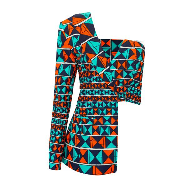 African Print Lagina Jacket and Pant Set