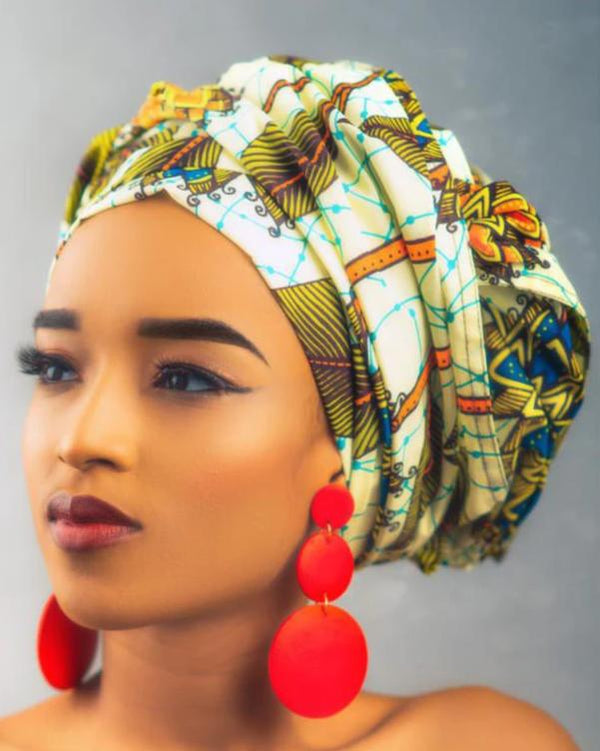 African Print Aren Head Wrap