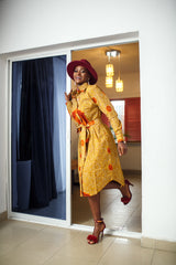 African Ankara Tadala Shirt Dress