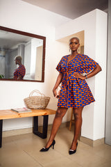 Indo Dashiki Dress ( Royal Blue )